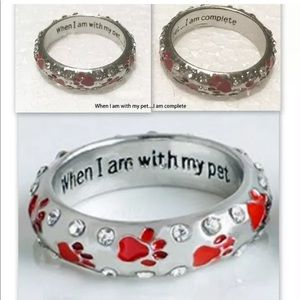 Pet Ring Red When I am with my pet, I am complete